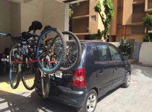 Hyndai Santro 1 Car Bicycle Carrier